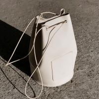 [6/10 출고예정] minimal cylinder shape bag - cream