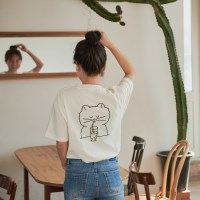 café Myumyu T-shirt (cream)