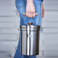 [밧드야] 18-8 풀스텐 음식물쓰레기통