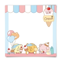 [또자] 아이스크림가게 댕댕 메모지