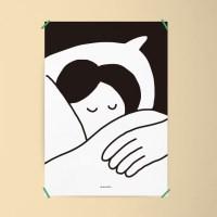 유니크 인테리어 디자인 포스터 M 굿나잇 잘자요 침실