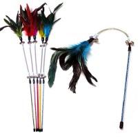 우쭈쭈 깃털 스프링 낚시대 (색상랜덤)