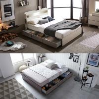홈잡스 브라이트 LED조명 콘센트 수납형 서랍형 평상 침대