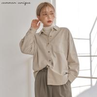 [커먼유니크] 에센셜 언발 코튼 셔츠_(1507765)