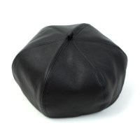 Leather Black Beret 가죽베레모