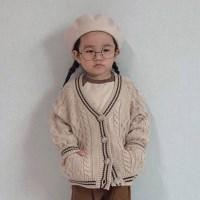 엔) 케이블 아동 니트가디건