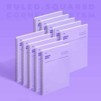 [모트모트] 스프링북 - 바이올렛 (룰드/스퀘어드/코넬시스템) 10EA