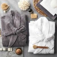 소프트터치 40수 헤링본 목욕가운/샤워가운/커플잠옷