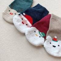 신) 크리스마스 아동 수면양말 4종세트