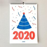 [한글도깨비 두두리] 리소그래피 2020 벽걸이 달력
