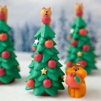 데꼴 2019 크리스마스 사과트리 피규어 한정판