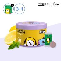 [뉴트리원] 3+1 BT21 비타민C 츄어블 1500mg x 60정 /레몬맛