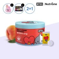 [뉴트리원] 2+1 BT21 멀티비타민 츄어블 1500mg x 60정 /복숭아맛