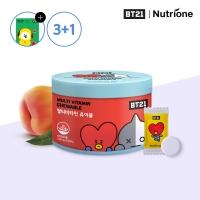 [뉴트리원] 3+1 BT21 멀티비타민 츄어블 1500mg x 60정 /복숭아맛