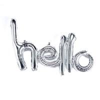 [원팩] 이니셜은박풍선 Hello [실버]_(11870543)
