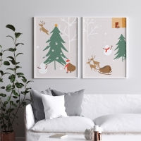 메리 크리스마스 트리 인테리어액자 20종