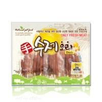 수제오리 오리꽈배기껌 300g 강아지간식 개껌 육포_(826405)