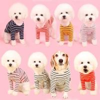 어썸키즈 강아지 스트라이프 티셔츠 중형견옷 대형견옷