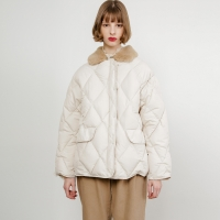 Dana Quilted Padding Jacket_Ivory_(34709)