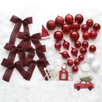 크리스마스트리 장식소품 에리카레드 장식세트