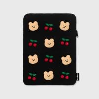 Dot cherry bear-ipad pouch(아이패드 파우치)