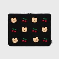 Dot cherry bear-13inch notebook pouch(13인치 노트북 파우치)