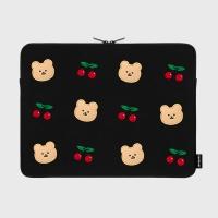 Dot cherry bear-15inch notebook pouch
