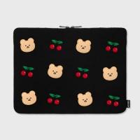 [3/27순차배송]Dot cherry bear-15inch notebook pouch
