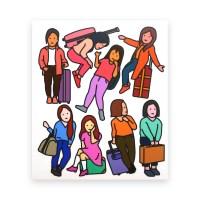 여행 스티커 - girls
