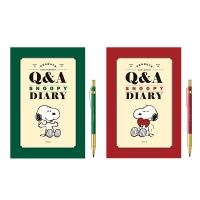 스누피 피너츠 Q&A 다이어리 + 샤프