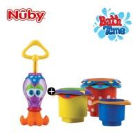 누비 아기목욕장난감 2종세트(문어 물총+컵쌓기 놀이)/_(2374912)