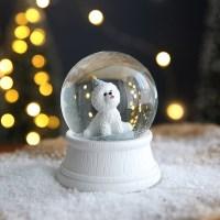 크리스마스 펫 스노우볼 동물 워터볼 M - 파티 개 - 막스(MARKS)