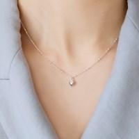 (92.5 silver) mini heart necklace