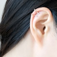 (92.5 silver) mini shine earcuff