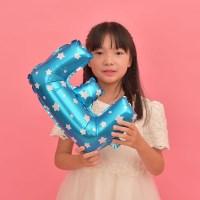 파티복닷컴 이니셜 알파벳 풍선 블루 E 중형 1개입 (PA01_16B_E)