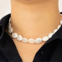 white almond necklace