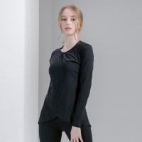 프론트 랩 커버 티셔츠 DFW-TL5031 블랙