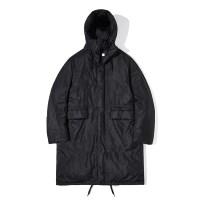 90/10 Duck Down Hood Long Padding Coat Black