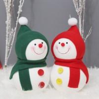 [데코봉봉]방울모자 눈사람 2P세트(그린+레드)