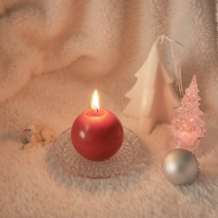 메리 크리스마스 트윙클볼 캔들