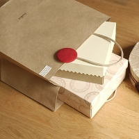 Red button shoppingbag