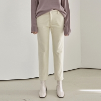 CORD SEMI STRAIGHT PANTS_CREAM