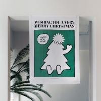 패브릭포스터 크리스마스 트리