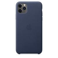 iPhone 11 Pro 가죽 케이스 - 미드나이트 블루