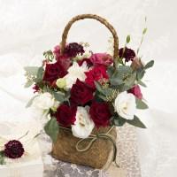 꽃선물 레드로즈 꽃바구니 (생화, 전국택배)
