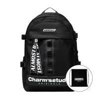 ALMOST BLUE X CHARMS BACKPACK - BLACK & WHITE