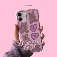 [뮤즈무드] vintage bear 아이폰케이스
