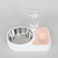 반자동 베이직 더블 식기 (핑크)