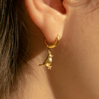 bird one touch earrings