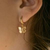 butterfly one touch earrings